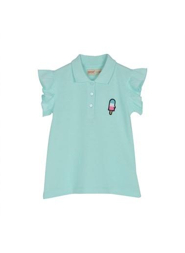 Silversun Kids Kız Çocuk Polo Yakalı Kolları Fırfır Detaylı Tişört *Bsc 216148 Yeşil